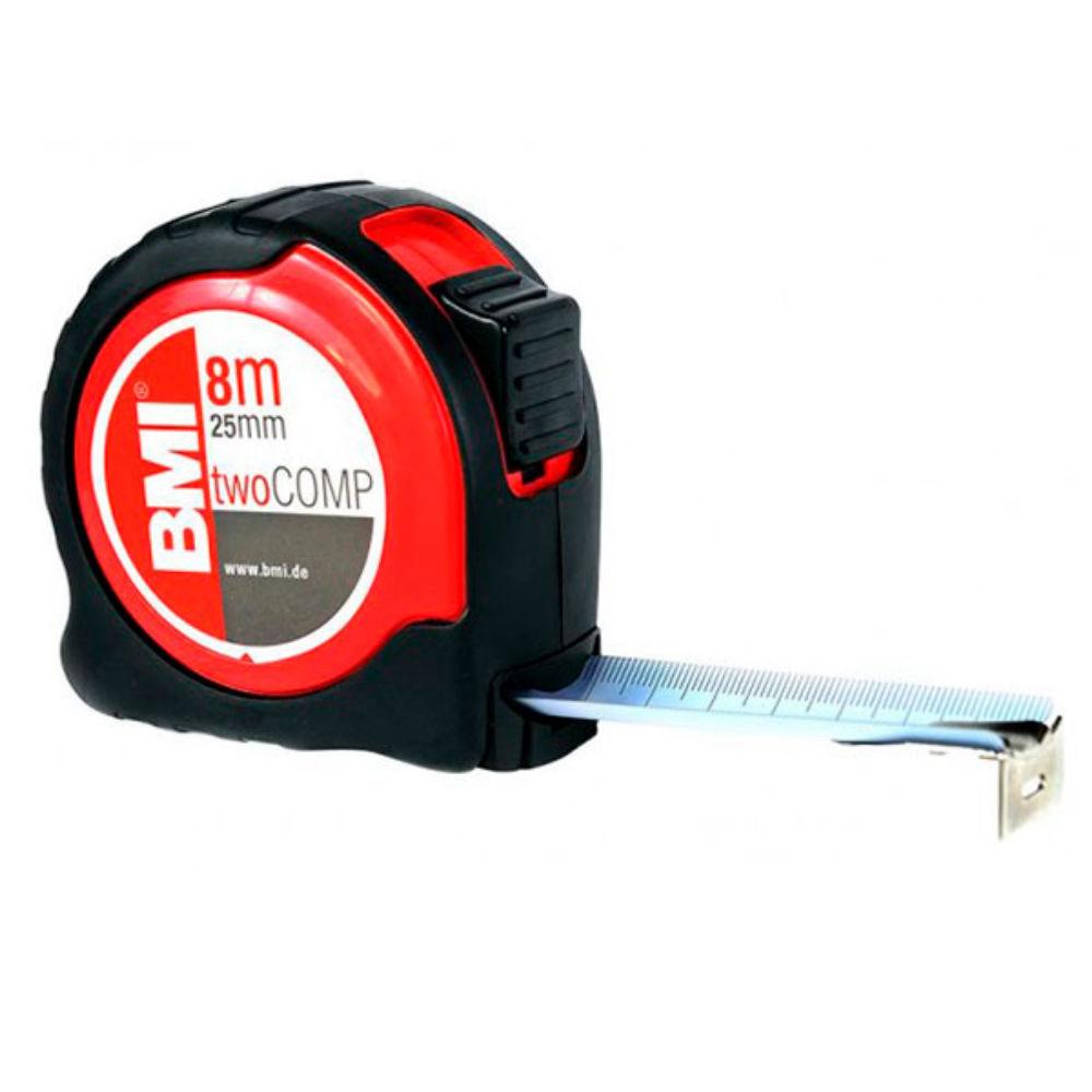 Рулетка BMI twoCOMP 8m с поверкой 472841021/п
