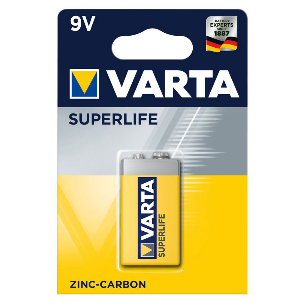 Батарейка Varta Superlife 2022 6F22 4008496556427