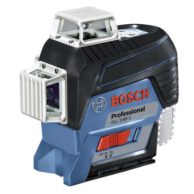 Лазерный уровень Bosch GLL 3-80 C (12 V) + BM1 + LR7 + L-boxx (0601063R05)