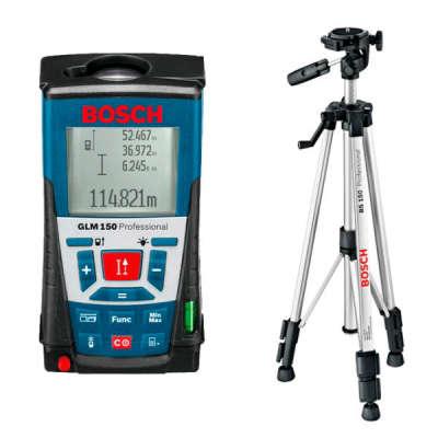 Лазерный дальномер Bosch GLM 150 Professional + BT150 (061599402H)