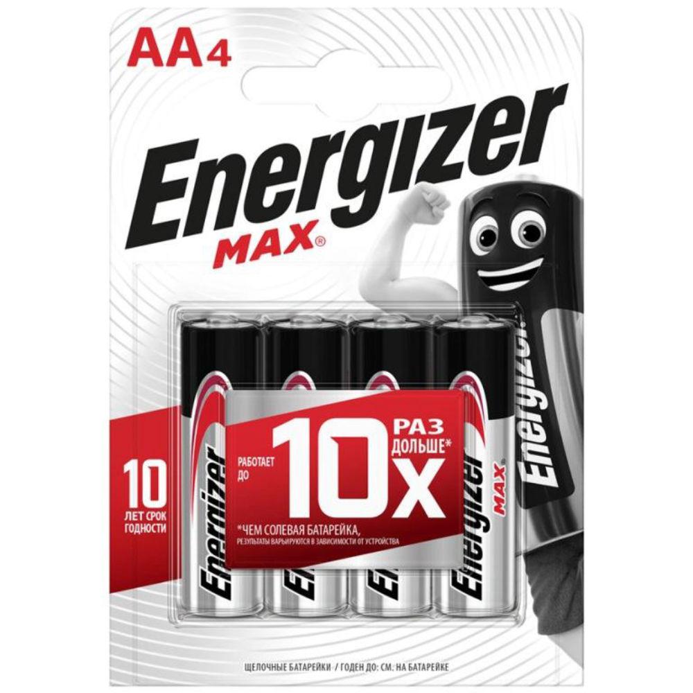 Батарейка Energizer MAX LR6 BL4 7638900411409