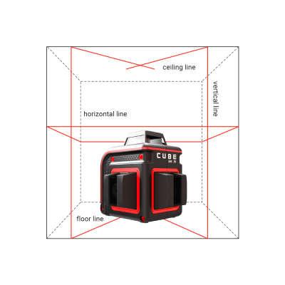 Лазерный уровень ADA Cube 360-2V Professional Edition А00570