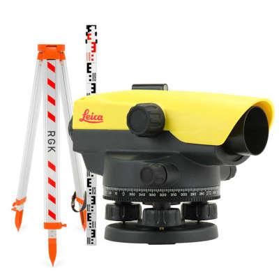 Оптический нивелир Leica NA520 + штатив + рейка 5м (840384 set)