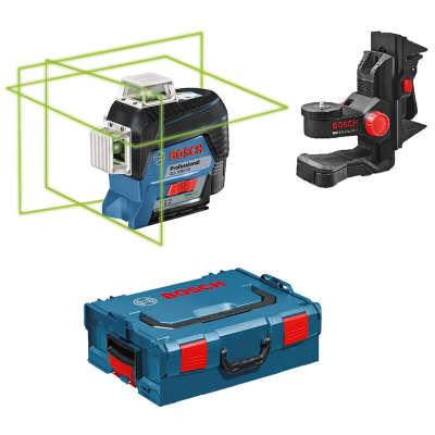 Лазерный уровень Bosch GLL 3-80 CG + BM 1 (12 V) + L-Boxx (0601063T00)