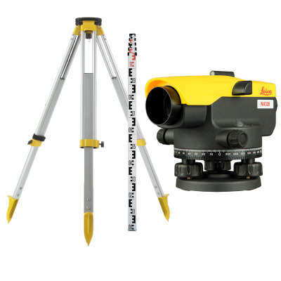Оптический нивелир Leica NA320 + штатив S6-2 + рейка TS5M