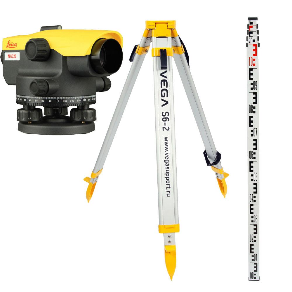 Оптический нивелир Leica NA520 + штатив + рейка 5м 840384 set