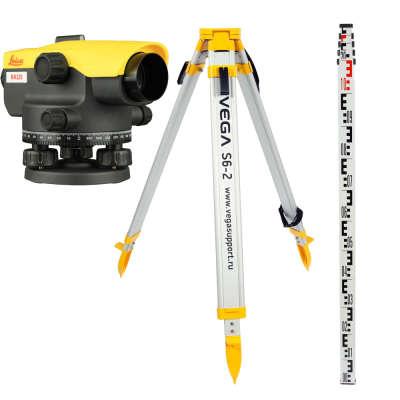 Оптический нивелир Leica NA520 + штатив + рейка 5м