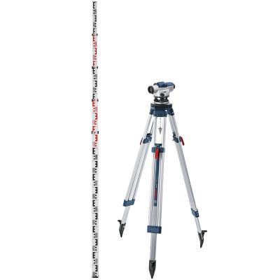 Оптический нивелир Bosch GOL 20D Kit штатив BT160 + рейка GR500 (0.601.068.402)