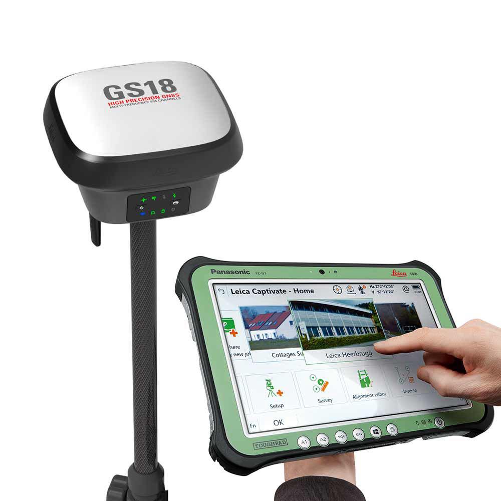 RTK-ровер Leica GS18 GSM/UHF, Rover CS35, 1 год Smartnet GS18 GSM/UHF, Rover CS35, 1 год Smartnet