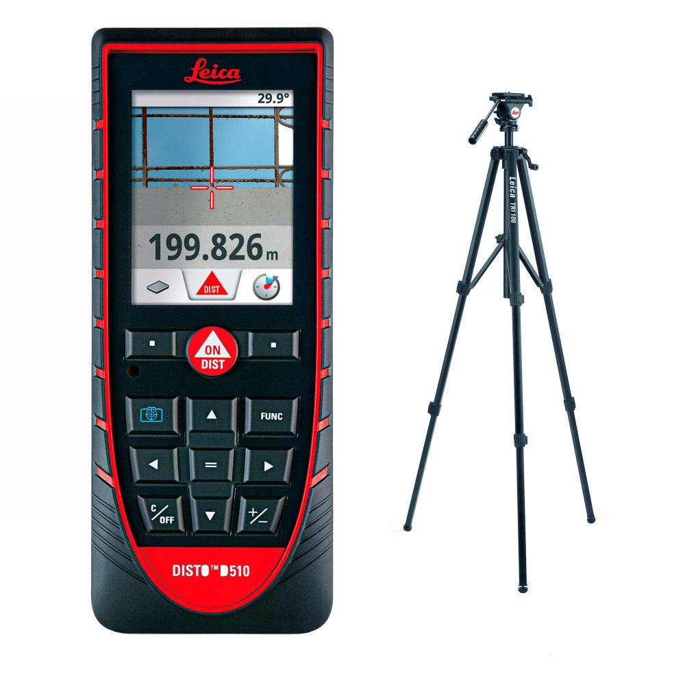 Лазерный дальномер Leica DISTO D510 + штатив TRI100 792290 + 757938