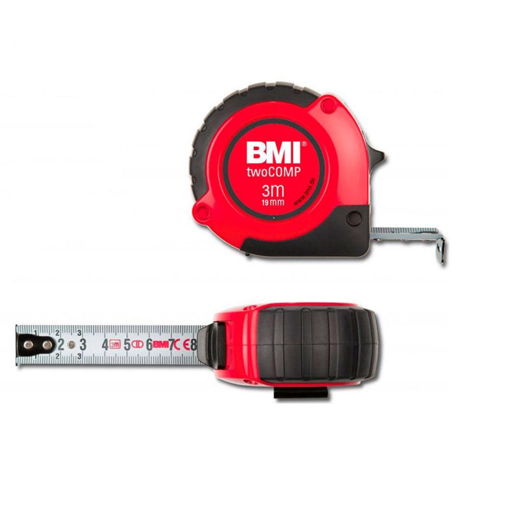 Рулетка BMI twoCOMP 3m с поверкой 472341021/п