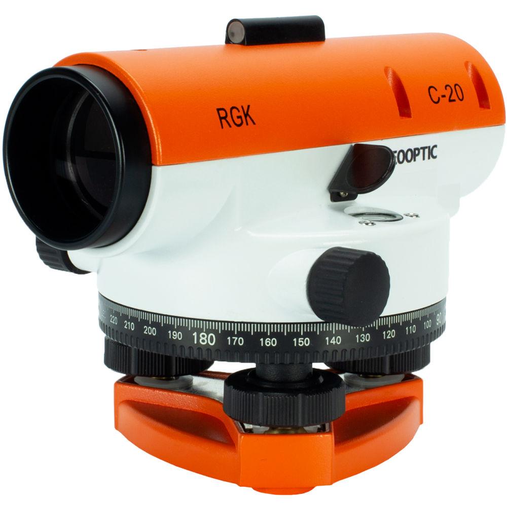 Оптический нивелир RGK C-20 + поверка + S6-N + рейка TS3M 4610011870552