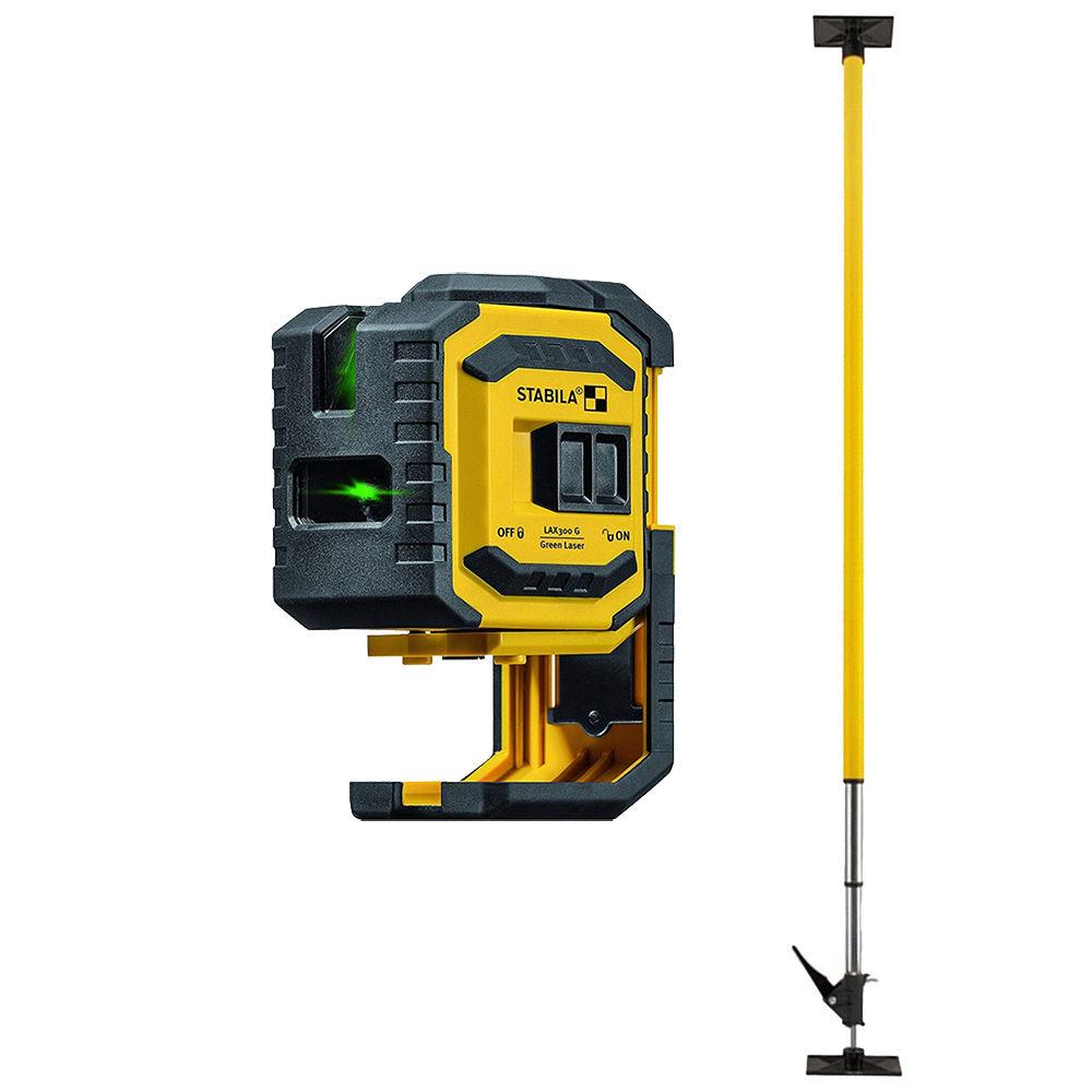 Лазерный уровень STABILA LAX300 G  + штанга LT30 19033