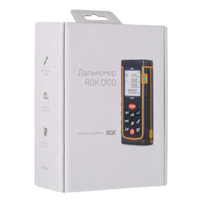 Лазерный дальномер RGK D100 New 4610011870040