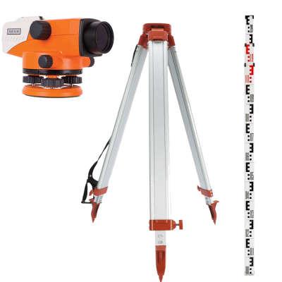 Комплект оптического нивелира RGK N-38 + штатив  + рейка 3м