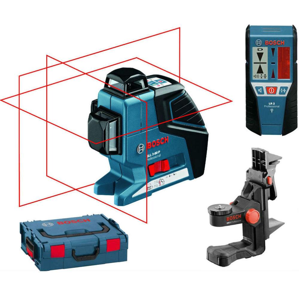 Лазерный уровень Bosch GLL 3-80 P (BM1new, LR2, L-Boxx) 060106330A