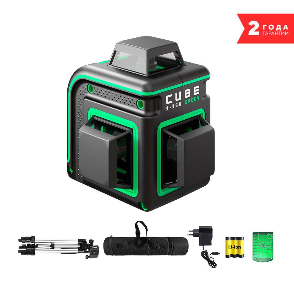 Лазерный уровень  ADA Cube 3-360 Green Professional Edition А00573