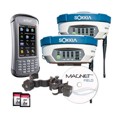 Комплект из двух GNSS-приемника Sokkia GRX2 + ARCHER2 MAGNET FIELD GPS+