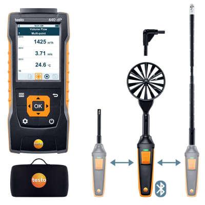Комплект для вентиляции 2 с Bluetooth Testo 440 delta P 0563 4410
