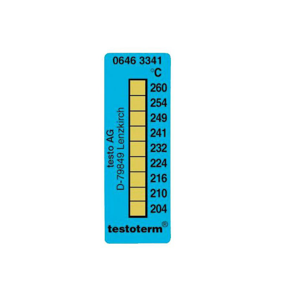Термические полоски Testo (+204 °C to +260 °C) 0646 3341