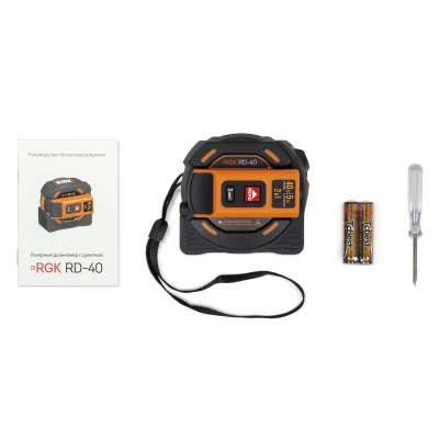 Лазерный дальномер с рулеткой RGK RD-40 774871