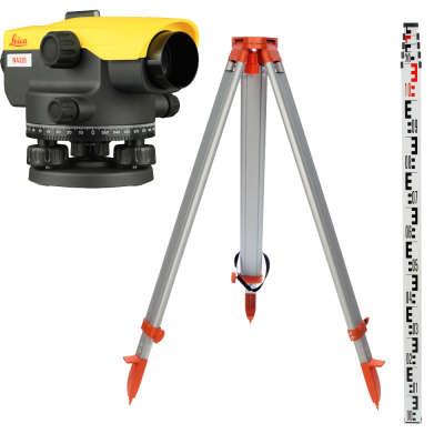 Оптический нивелир Leica NA320 + штатив + рейка 5м