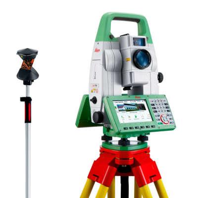 """Роботизированный тахеометр Leica TS16 M R500 (5"""") + ПО + штатив + отражатель 360 + веха"""