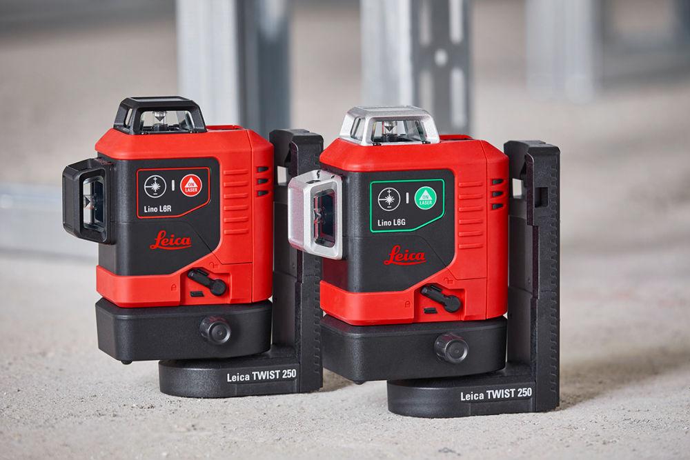 3x360° лазерные нивелиры Leica Lino L6G и Lino 6R