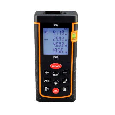 Лазерный дальномер RGK D80 4610011871832