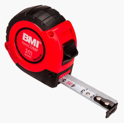 Рулетка BMI twoCOMP 3m 472341021