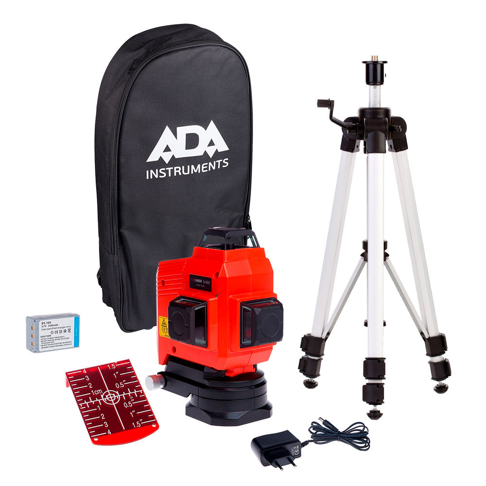 Лазерный уровень  ADA TopLiner 3x360 Set А00484
