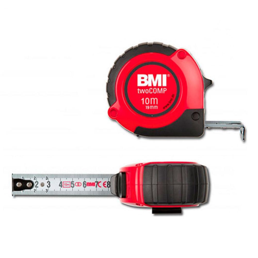 Рулетка BMI twoCOMP 10m с поверкой 472041021