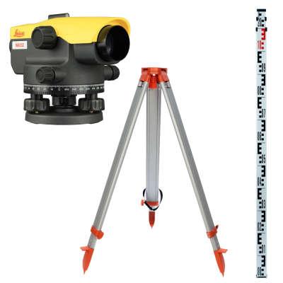 Оптический нивелир Leica NA332 + рейка 3м + штатив + чехол