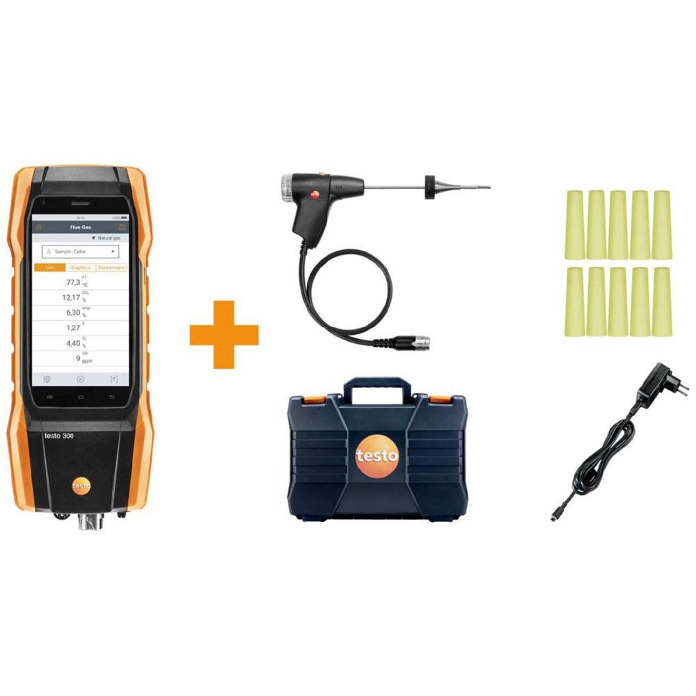 Комплект анализатора дымовых газов Testo 300 без Н2-компенсации (O2, CO до 4000 ppm) 0564 3002 86