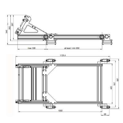 Монтажная система Trimble MX9 Roof Rack T001099