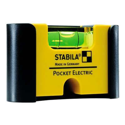 Компактный уровень Stabila Pocket Electric с зажимом 18115