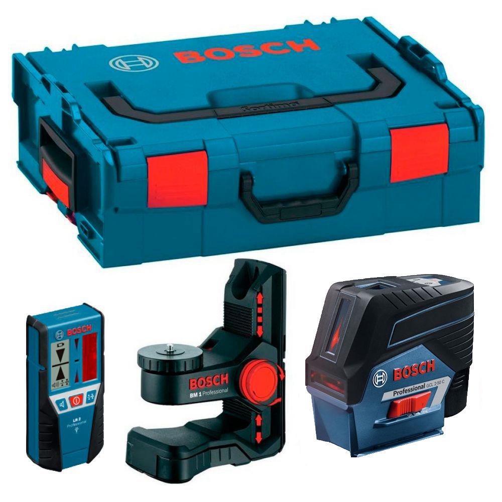 Лазерный уровень Bosch GLL 2-50 C (BM1, LR2, L-boxx) 0601066G03