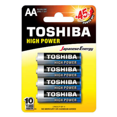 Батарейка Toshiba High Power LRGCP BP-4 LR6 BL4