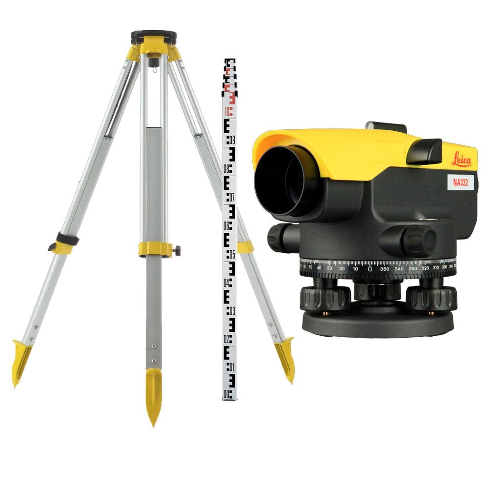 Оптический нивелир Leica NA332 + штатив + рейка 3м 840383 set