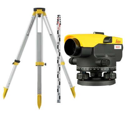 Комплект нивелира Leica NA324 с поверкой + штатив + рейка 3м