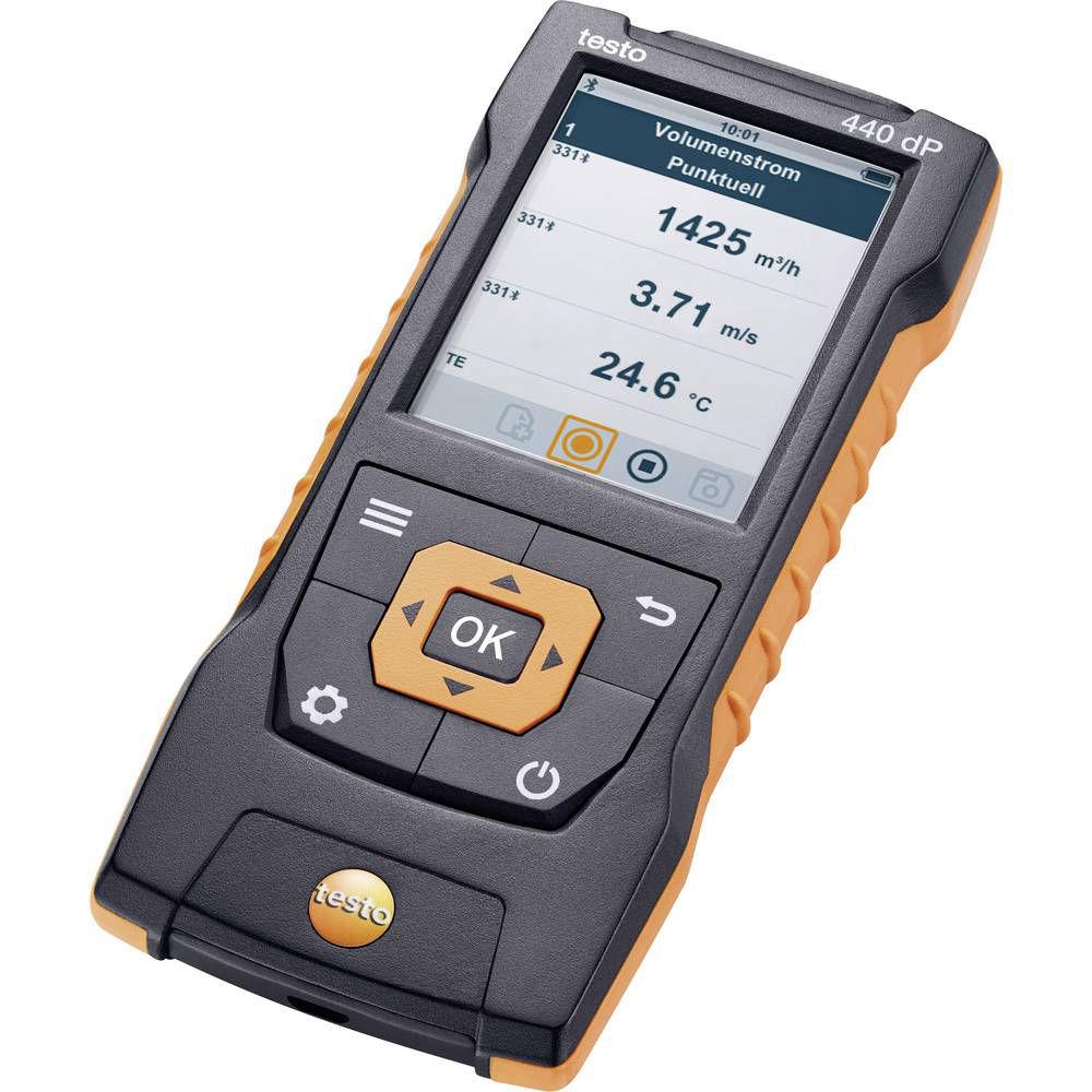 Прибор для измерения скорости и оценки качества воздуха в помещении со встроенным сенсором дифференциального давления Testo 440 dP 0560 4402