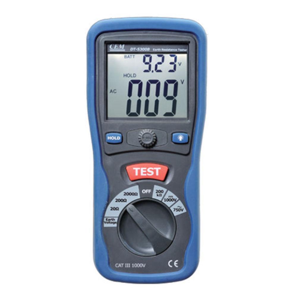 Измеритель сопротивления заземления CEM DT-5300B 482025