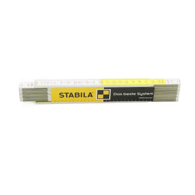 Метр складной STABILA 617 (2м х 16мм, белый/желтый) 01128