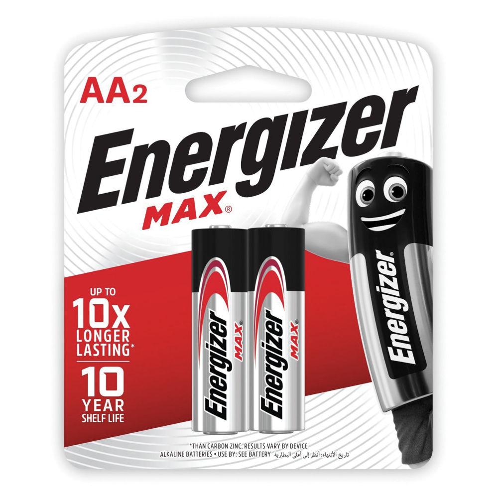 Батарейка Energizer MAX LR6 BL2 7638900411393