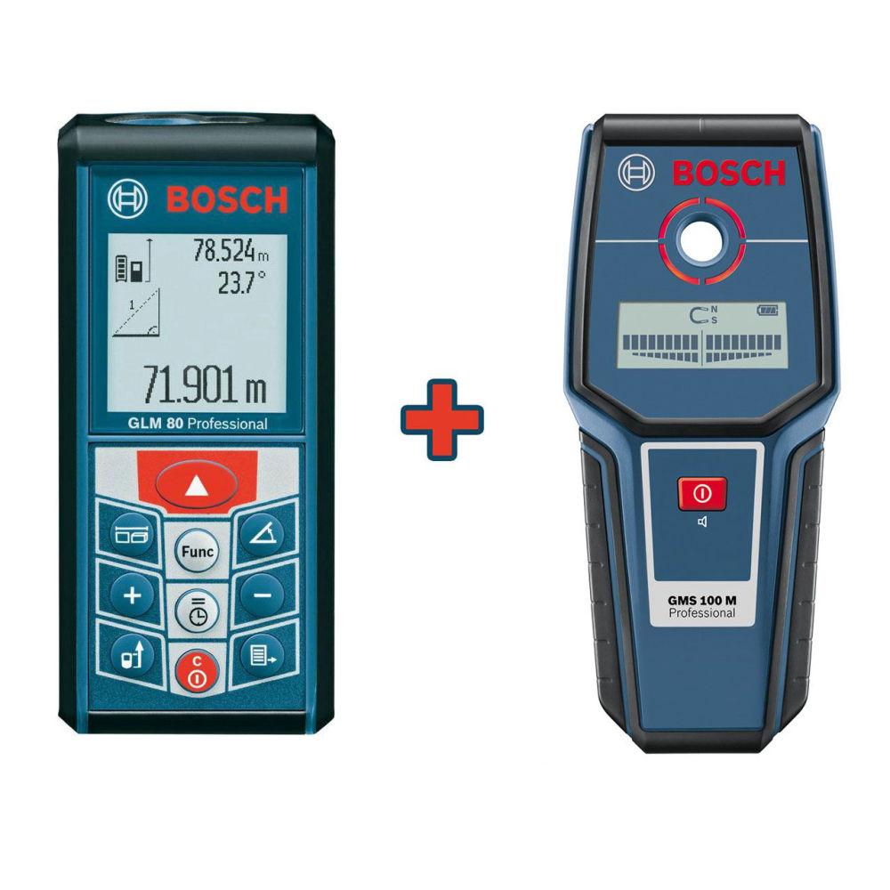 Лазерный дальномер Bosch GLM 80 Professional + GMS100 06159940AU