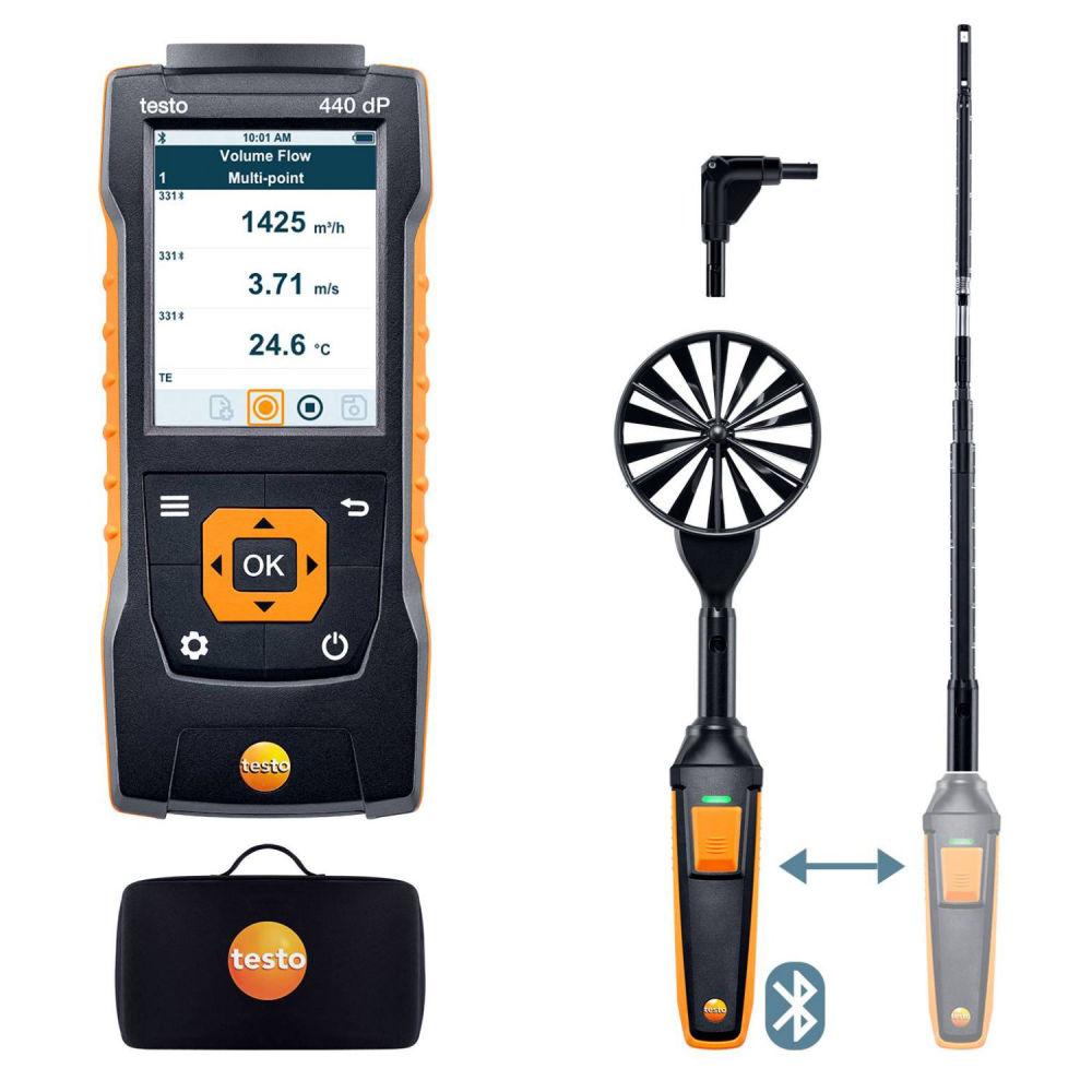 Комплект для вентиляции 1 с Bluetooth Testo 440 delta P 0563 4409