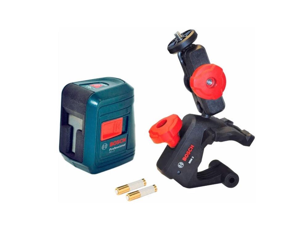 Лазерный нивелир + держатель Bosch GLL 2 + MM 2