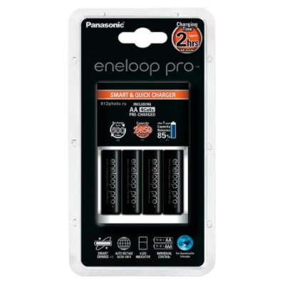 Зарядное устройство Panasonic eneloop pro Smart&Quick Charger  K-KJ16HCD40E