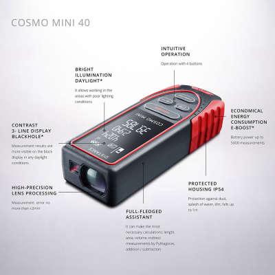 Лазерный дальномер ADA Cosmo mini 40 (А00490)