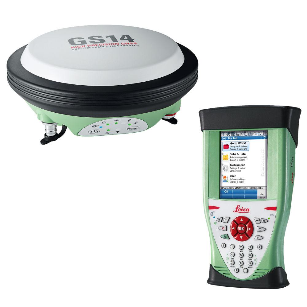 RTK-ровер Leica GS14 GSM+Radio CS10 3.5G Galileo+BeiDou, 1 год Smartnet 6013967 GB